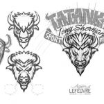 Logo sportif Tatonka de type Football-Américain